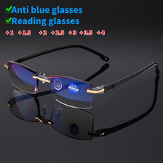 Blues, lights, rimlessreadingglasse, Blue light
