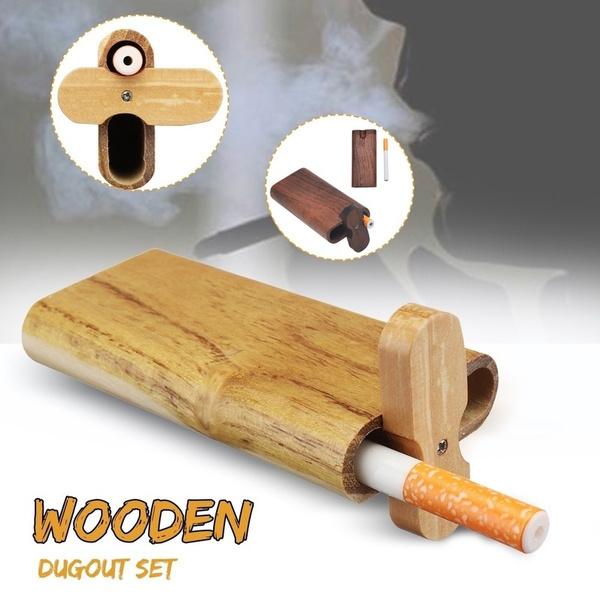Box, woodentobaccopipeaccessorie, dugoutpipe, Cigarettes