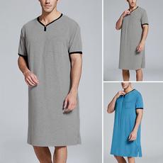 Summer, Plus Size, long shirt, sleepwearmen