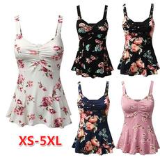 Summer, Vest, Plus Size, Floral print
