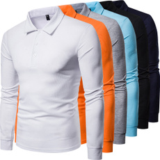 Plus Size, Polo Shirts, long sleeved shirt, Simple