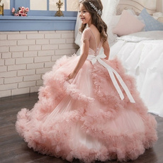 butterfly, gowns, Flowers, flowergirl