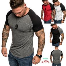 Fashion, Shirt, Casual, Round Collar