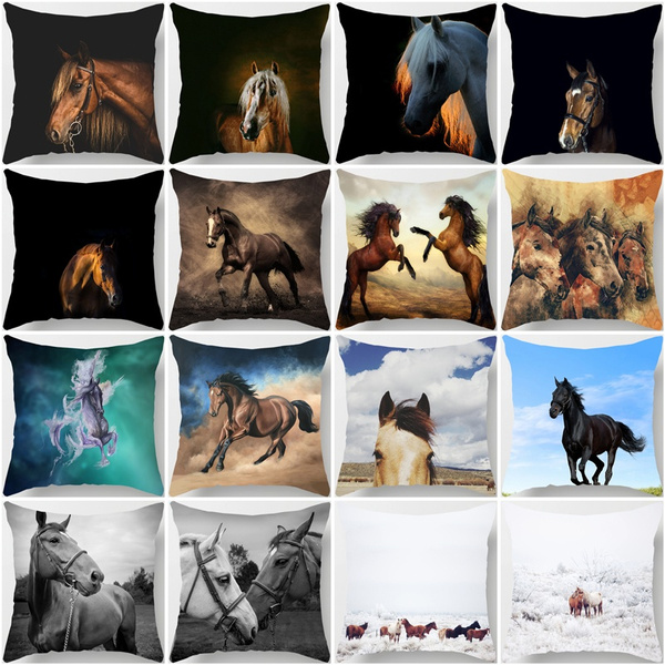 decoration, squarepillowcase18x18, horse, homeampoffice