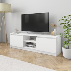 tvcabinet, chipboard, TV, white