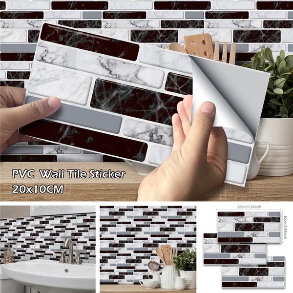 3D Waterproof Kitchen Bathroom Tile Mosaic Sticker Self-adhesive Home Wall Decor