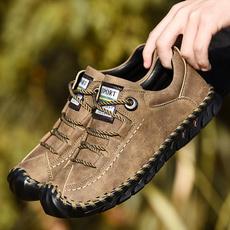 casual shoes, Vintage, Plus Size, leather shoes