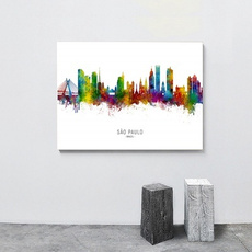 Decorative, Brazil, citymap, Wall Art