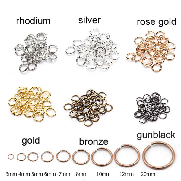 Jewelry, gold, splitring, Rose