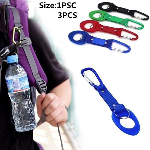 1 Pcs Water Bottle Holder Hook Strap Belt Buckle Carabiner Travel Camping Hiju