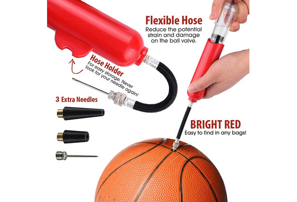 8 Inch Ball Football 5 Colors Volleyball Multifunction Portable Pump Needle