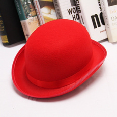 bowler hat, Fashion, Cosplay, red hat