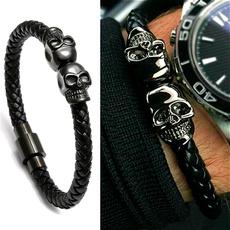 Charm Bracelet, Magnet, bikerbracelet, gothicbracelet