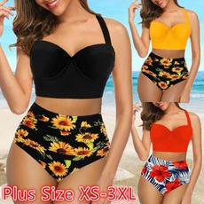 Two Piece Swimwear, Plus Size, women beachwear, two piece bathing suit