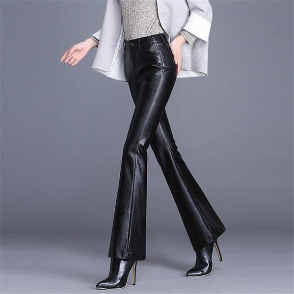 womens leather pants, Fashion, high waist, pants