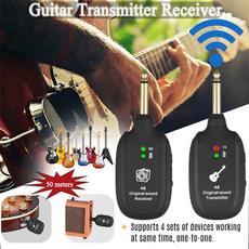 audioreceiver, Electric, guitarwirelesstransmitter, Guitars