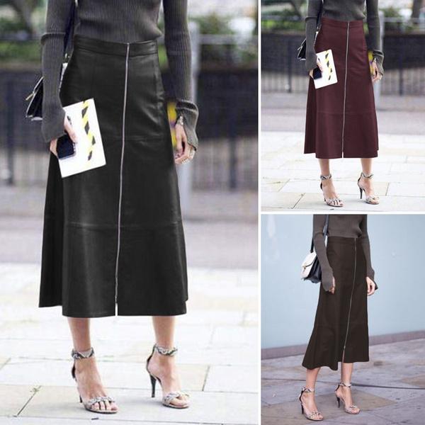 long skirt, pencil skirt, Waist, Elegant