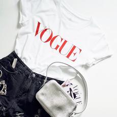 Summer, white shirt, Cotton T Shirt, vogue