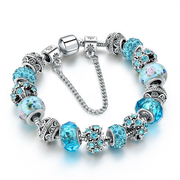 Blues, Jewelry, Bracelet, Crystal