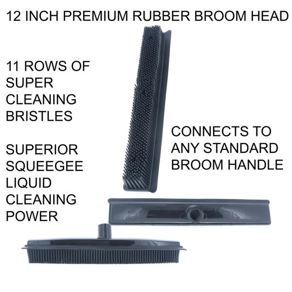 Heavy, Heavy Duty, rubberbroomhead