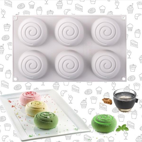 Cake, spiralpatternmold, Silicone, cake mold