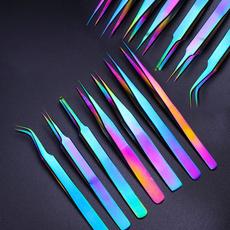 Steel, eyelashesextensionstweezer, stainless steel tweezer, Makeup Tools