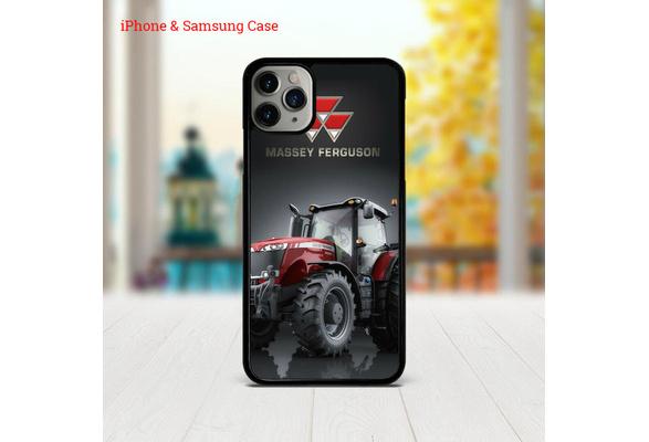Coque Tracteur Massey Ferguson pour iPhone 11 11Pro XS XR Max X 6 / 6S 7 8 Plus 5 / 5S / 5C / SE et Samsung Galaxy S5 S6 S6Edge S7 S7Edge S8