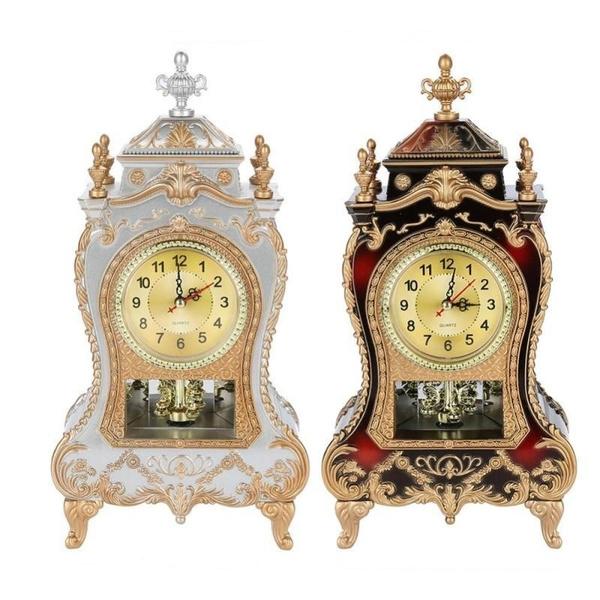 vintagetableclock, deskalarmclock, Clock, tableclock
