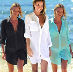 blouse, Sheer, Plus Size, chiffon