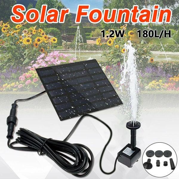 pondfountain, Garden, solarpanelwaterpump, solarwaterpump