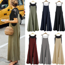 Summer, trousers, loosejumpsuit, pants