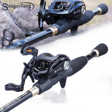 fishingset, Fiber, fishingrod, baitcastingreel