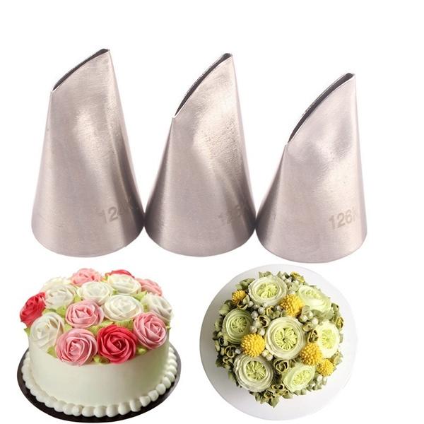 rosedecoratingmouth, flowerbakingtool, 3piecesettool, Rose