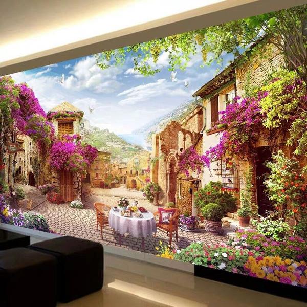 scenery, Plants, DIAMOND, Handmade