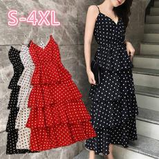 Summer, long skirt, Sweet Dress, halter dress