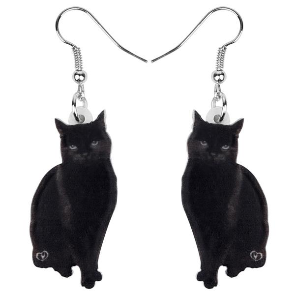 earringsforkid, catgift, earringsblack, cute