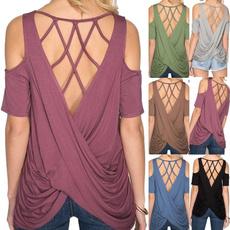 Summer, Plus Size, Cotton T Shirt, short sleeves