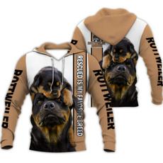 rottweiler, hooded, Long Sleeve, Fashion Hoodies