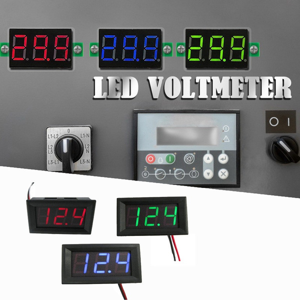 leddigitalvoltmeter, voltagegauge, led, Mini