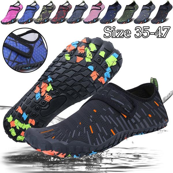 Men's and Women's Beach Shoes Seaside Diving Elastic Shoes Walking Outdoor  Flat Water Shoes Lightweight Aqua Socks Yoga Exercise Shoes | Wish