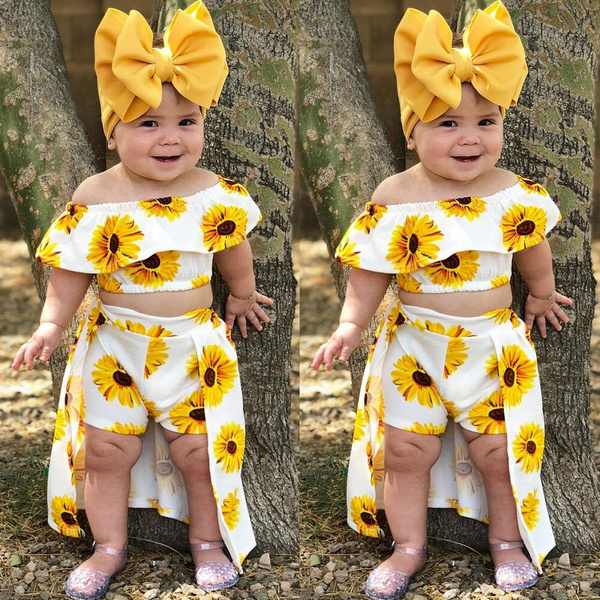 #Summer Clothes, Fashion, kids clothes, Sunflowers