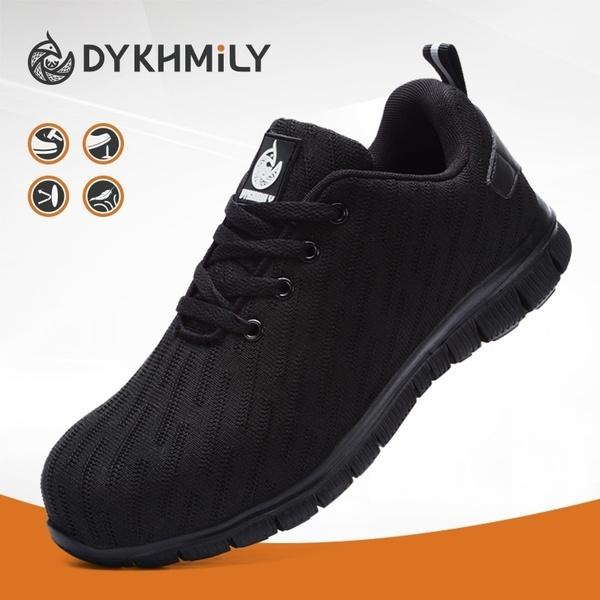 DYKHMILY Steel Toe Shoes for Men Women