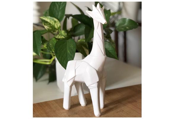 - 16 cm Les Tr/ésors De Lily R1470 - Figurine 3D r/ésine Origami Blanc /él/éphant
