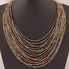beadnecklace, stringnecklace, Jewelry, Multi-layer