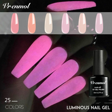 pink, glowindark, Neon, Fake Nails