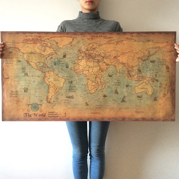 Decor, art, cafebardecorativewallsticker, worldmap