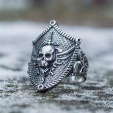 Mens Ring, Steel, Goth, Stainless Steel