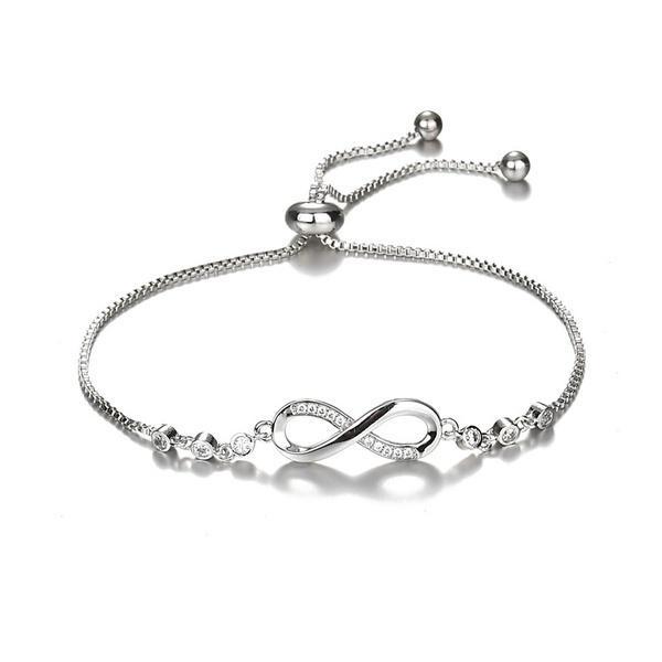 Sterling, Charm Bracelet, braceletfemme, Infinity
