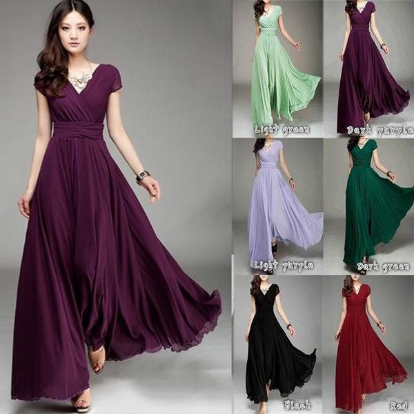 dress slim, Plus Size, Waist, chiffon