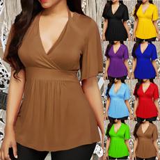 blouse, Plus size top, Halter, Women Blouse